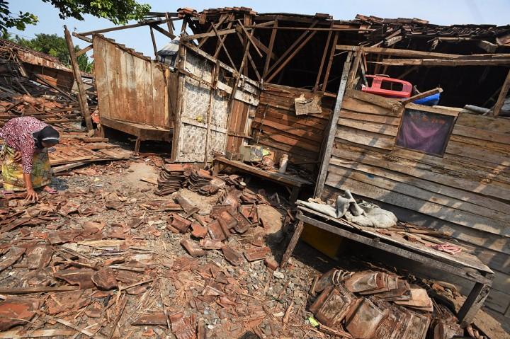 Sejumlah Rumah di Kasemen Serang Roboh Diterjang Puting Beliung