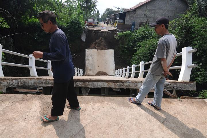 Jembatan Penghubung Desa di Boyolali Ambruk