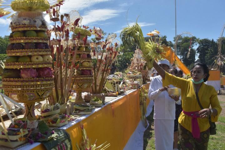 Suasana Upacara Tawur Agung Kesanga di Denpasar
