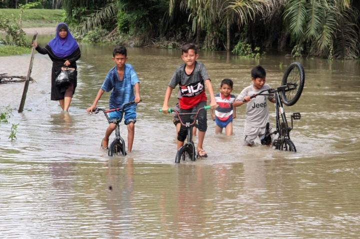 Banjir di Aceh Utara Meluas, Ratusan Warga Mengungsi