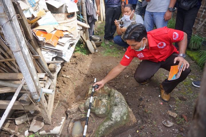 Sebuah Fragmen Arca Kala Ditemukan di Tulungagung