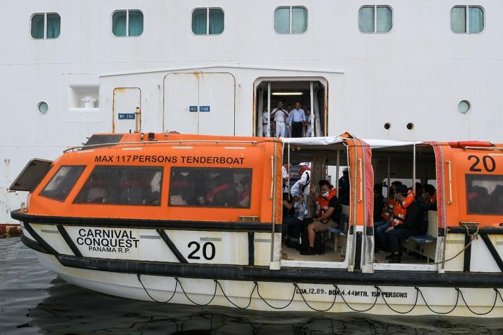 275 WNI ABK Kapal Pesiar Tiba di Jakarta