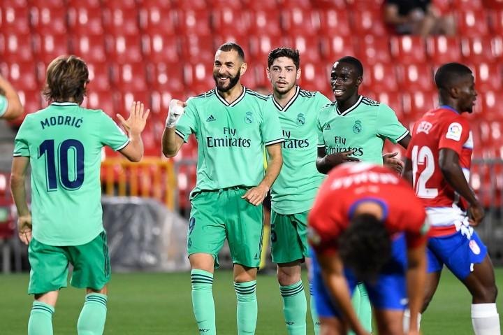 Gebuk Granada, Real Madrid di Ambang Juara La Liga