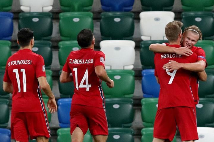 Norwegia Tekuk Irlandia Utara 5-1, Haaland Cetak Dua Gol