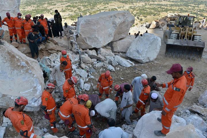 Tambang Batu Marmer di Pakistan Longsor, 18 Orang Tewas