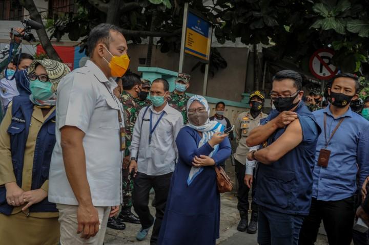 Ridwan Kamil Kembali Disuntik Vaksin Covid-19