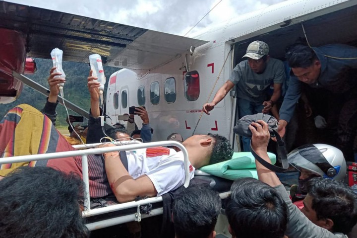 Tukang Ojek Korban Penembakan KKB Dievakuasi ke Timika