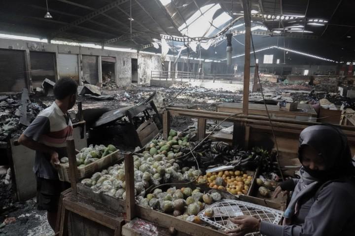 Kondisi Pasar Wage Purwokerto Pascakebakaran