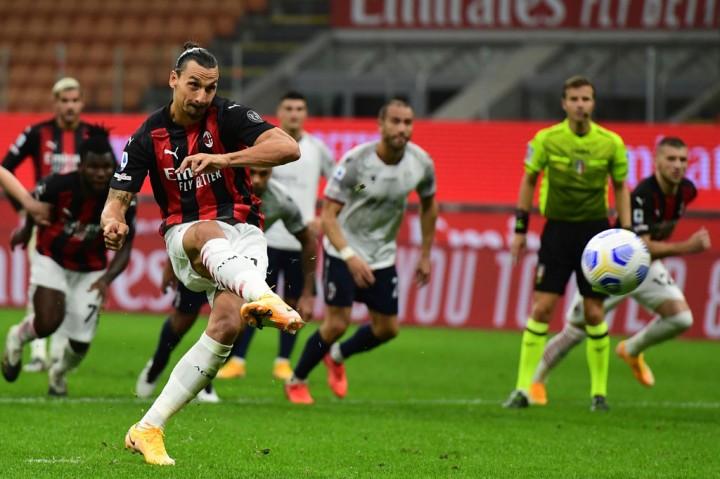 Ibrahimovic Bawa Milan Tundukkan Bologna 2-0