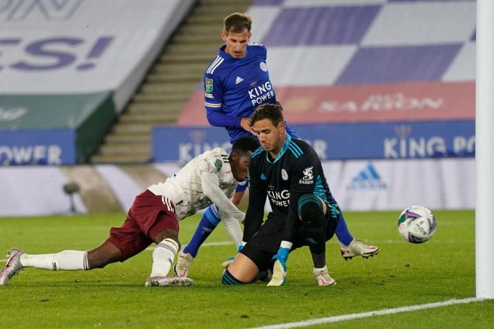 Arsenal Singkirkan Leicester dari Piala Liga