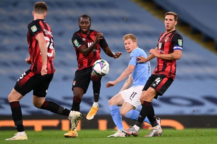 City Susah Payah Tundukkan Bournemouth di Putaran Ketiga Piala