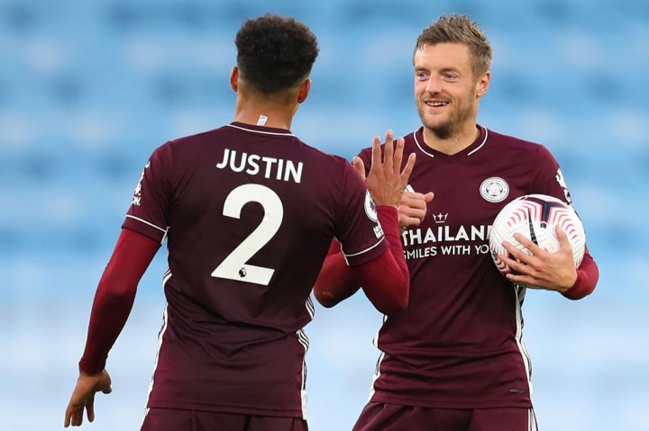 Vardy Hat-trick, Leicester Libas Man City 5-2