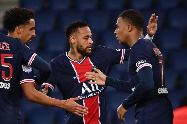 PSG Bantai Angers 6-1, Neymar Sumbang 2 Gol