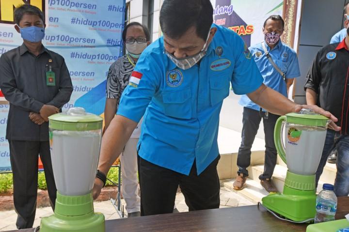 BNN Banten Musnahkan 2,2 Kg Sabu yang Diselundupkan Dalam Sepatu