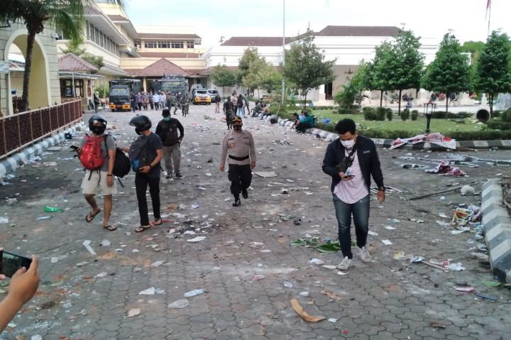 Potret Kerusakan Pascademo Tolak UU Ciptaker di Yogyakarta