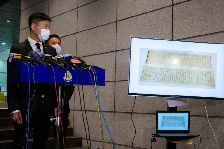Gulungan Kaligrafi Karya Mao Zedong Ditemukan di Hong Kong