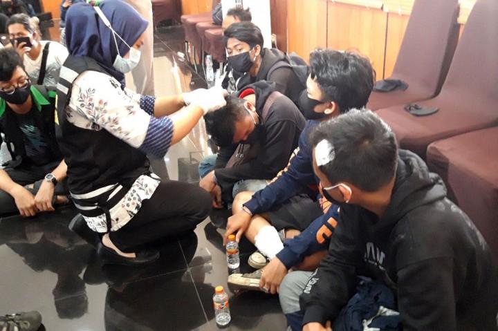 Polres Malang Proses 129 Pengunjukrasa