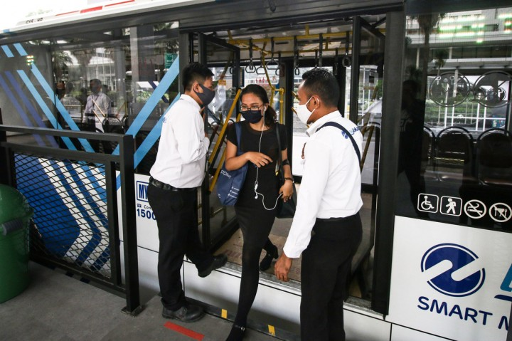 Halte Transjakarta Bundaran HI Kembali Beroperasi