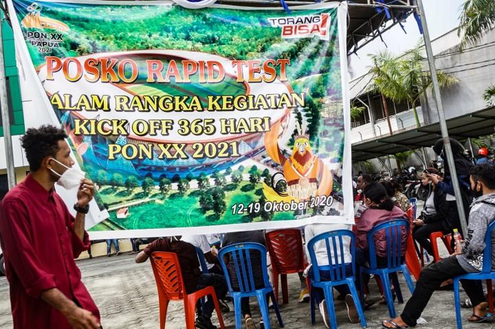 Peserta Peresmian Venue PON Papua Wajib Rapid Test
