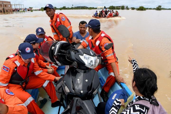 Puluhan Ribu Orang Dievakuasi Akibat Banjir Bandang Kamboja