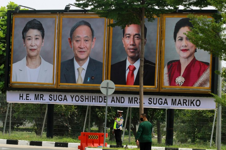 PM Jepang Yoshihide Suga Tiba di Indonesia