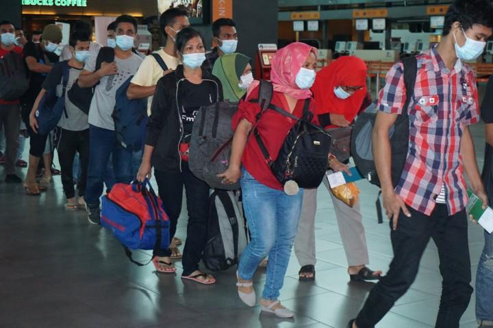 552 PMI Ilegal Dipulangkan dari Malaysia
