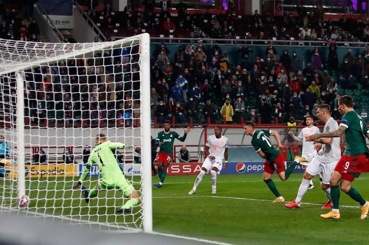 Lokomotiv vs Bayern: Die Roten Menang Tipis 2-1