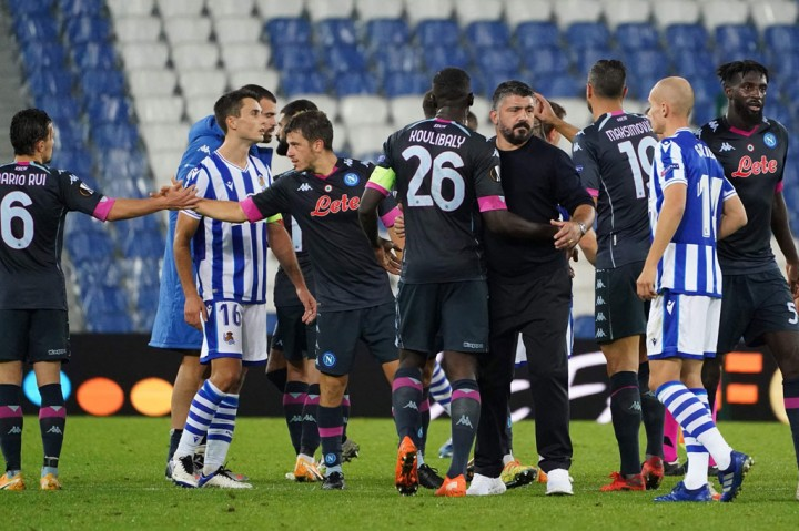 Real Sociedad vs Napoli: Partenopei Bawa Pulang 3 Poin