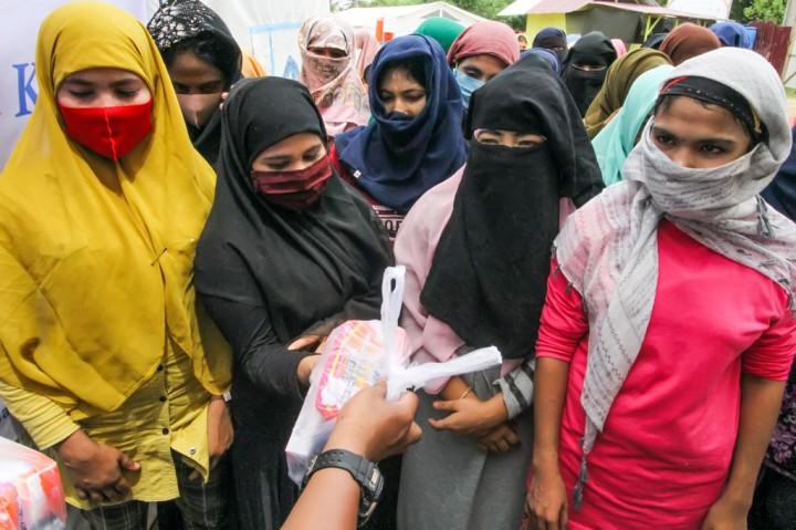 Pengungsi Rohingya Peroleh Bantuan dari Human Initiative