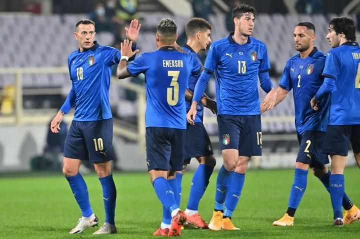 Pertandingan Persahabatan: Italia Gilas Estonia 4-0