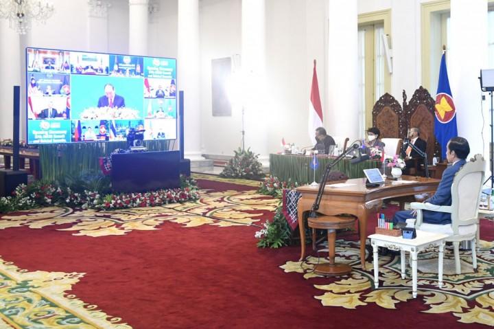 Presiden Hadiri KTT ke-37 ASEAN Secara Virtual