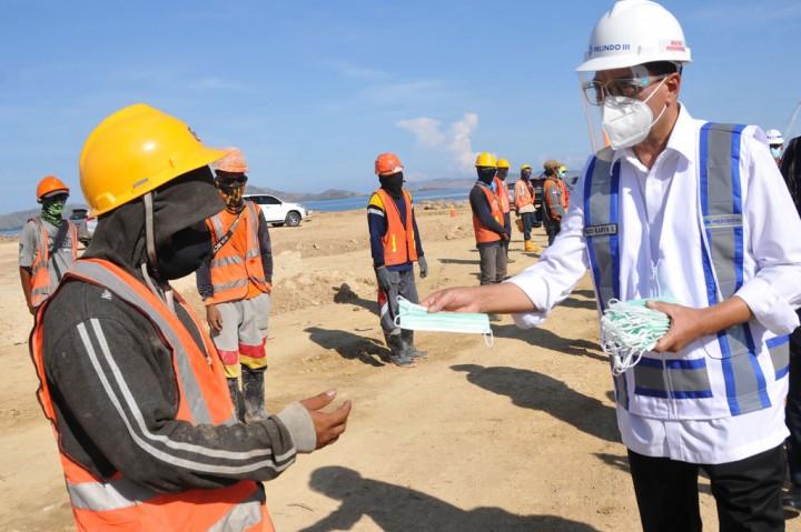 Pembangunan Terminal Pelabuhan Wae Kelambu Capai 48 Persen