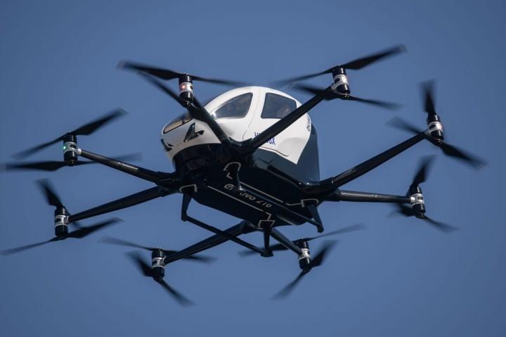 Drone Taksi dan Pengiriman Uji Terbang di Seoul