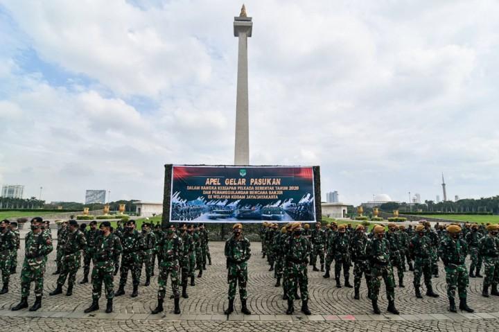 Kodam Jaya Apel Gelar Pasukan Pengamanan Jelang Pilkada Serentak