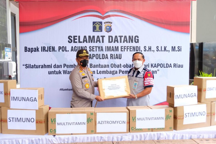386 Napi di Riau Positif Covid-19, Kapolda Beri Bantuan