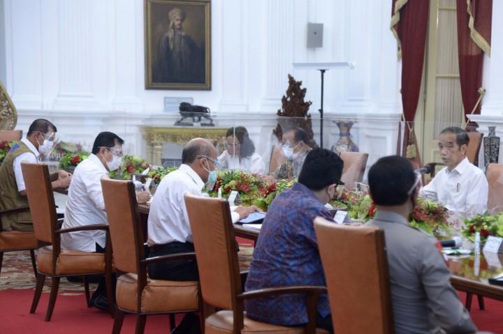Jokowi Pimpin Ratas Laporan Komite Penanganan Covid-19 dan PEN