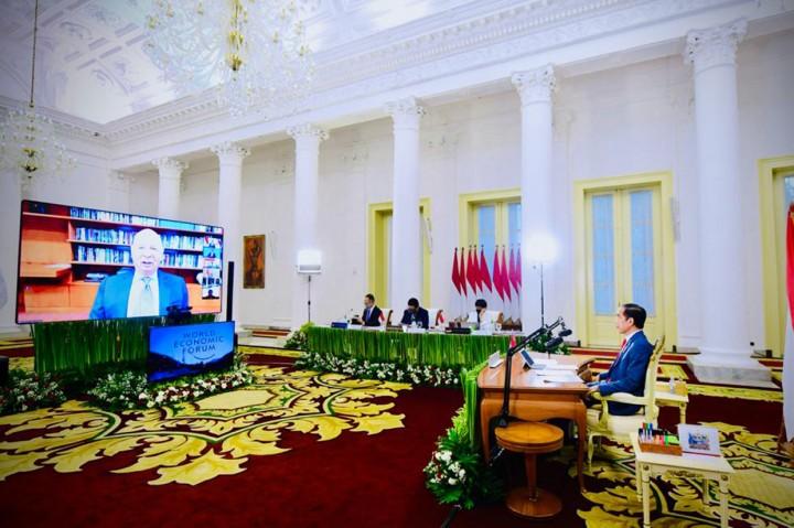 Jokowi Hadiri Pertemuan Virtual WEF Mengenai Indonesia