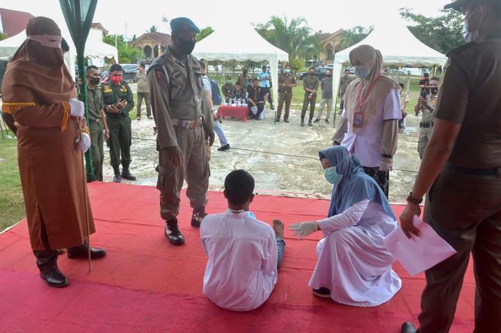 Terpidana Pemerkosaan Anak di Aceh Timur Dihukum 150 Kali Cambuk