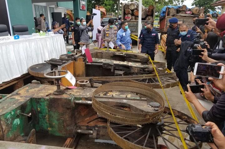 Ribuan Kayu Illegal Logging Diamankan dari SM Rimbang Baling