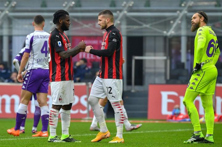Liga Italia: Diwarnai Dua Penalti, AC Milan Kalahkan Fiorentina
