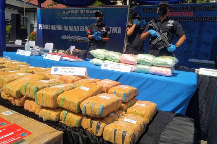 BNN Musnahkan 1,5 Ton Narkoba