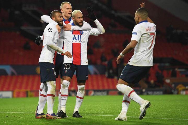 Liga Champions: PSG Lumat MU 3-1 di Old Trafford