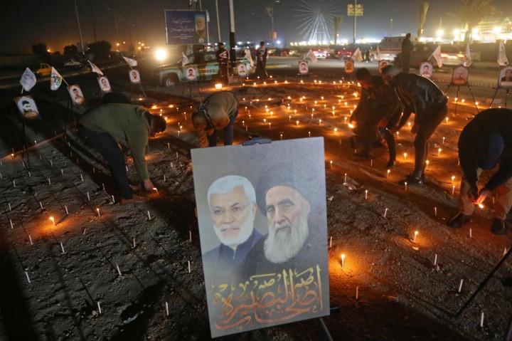 Peringatan Setahun Kematian Komandan Militer Iran Qasem Soleimani