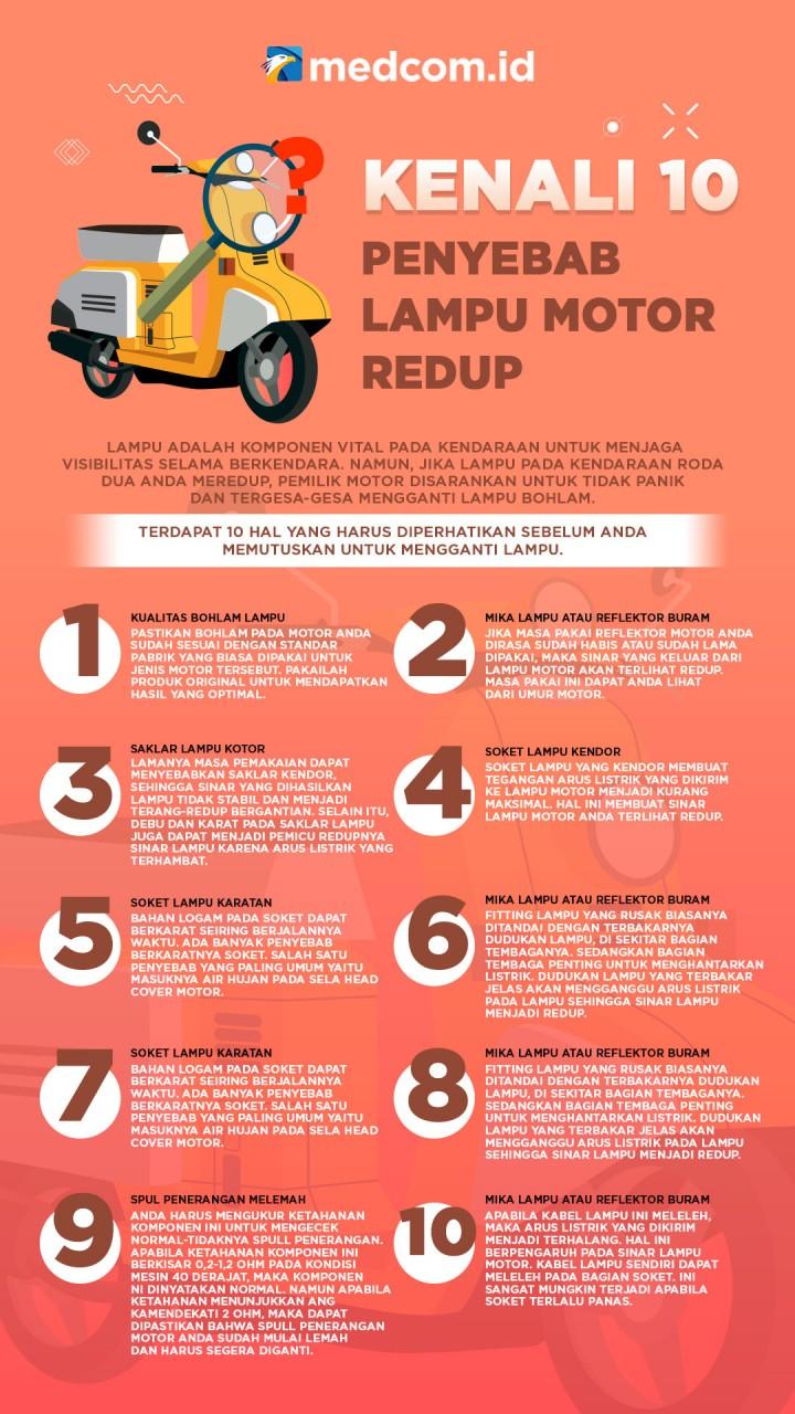 Pahami 10 Penyebab Lampu Motor Redup