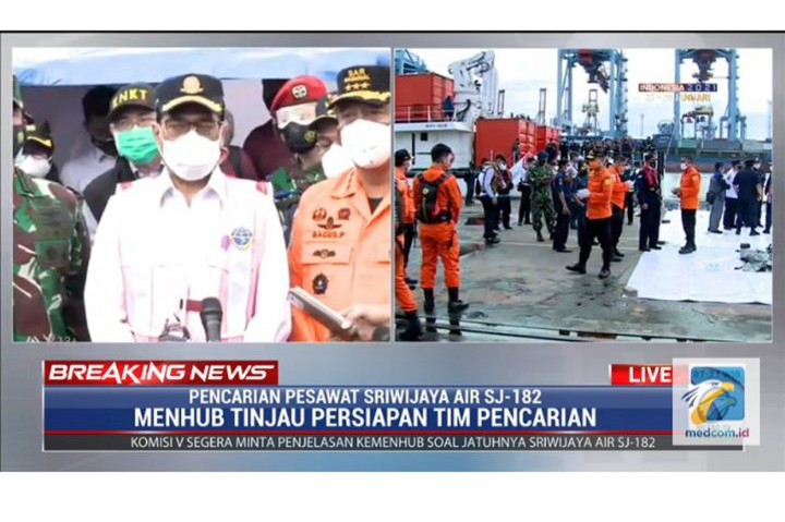 Panglima TNI: Sinyal Pesawat Sriwijaya Air SJ-182 Ditemukan