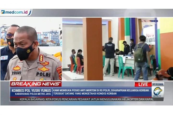 2 Kantong Jenazah Korban Sriwijaya Air Dibawa ke RS Polri Kramat