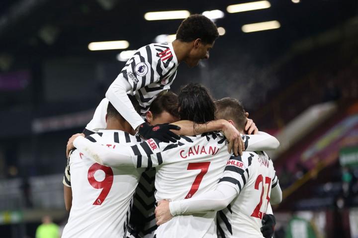 Liga Inggris: Tekuk Burnley 1-0, MU ke Puncak Klasemen
