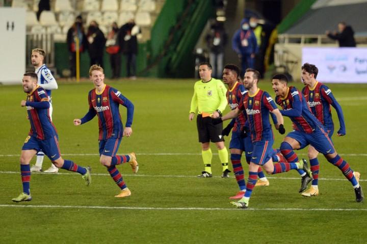 Menang Adu Penalti, Barca ke Final Piala Super Spanyol