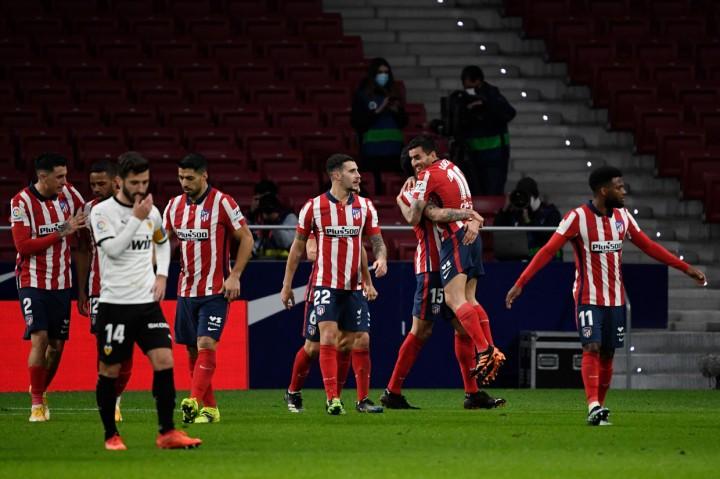 Liga Spanyol: Taklukkan Valencia, Atletico Kokoh di Puncak