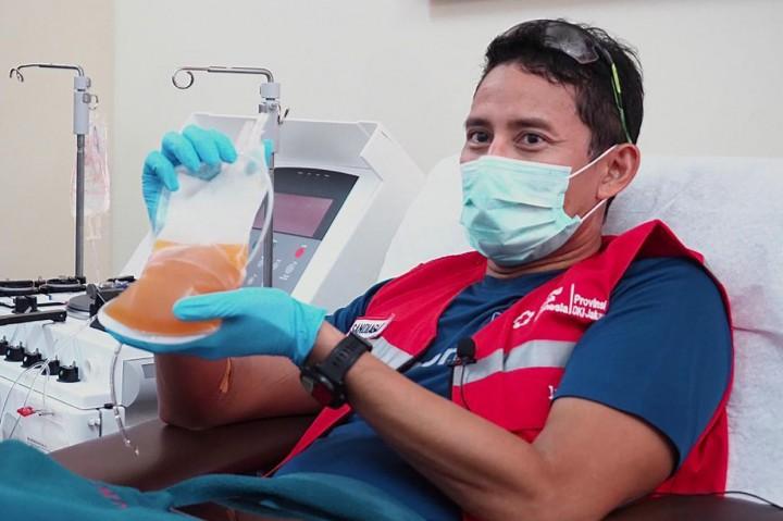 Pulih dari Covid-19, Sandiaga Uno Donor Plasma Konvalesen